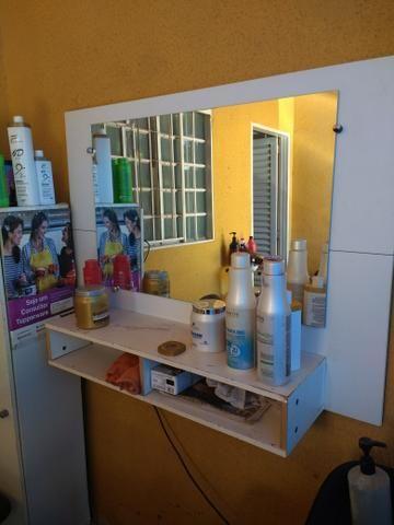 Frente de salão com espelho e outros para salão 250,00 ACEITO CARTÃO!