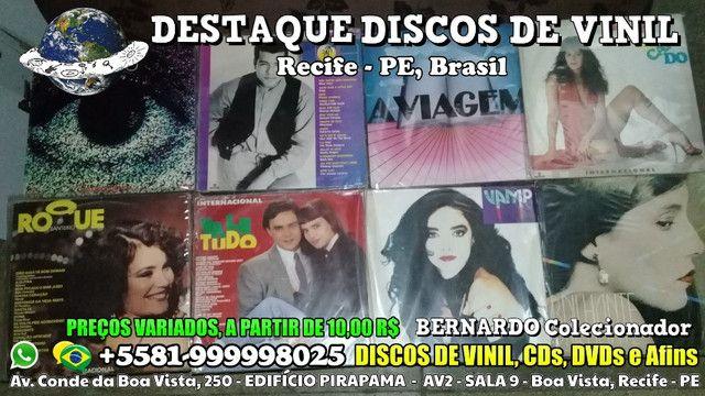 Varios Discos de Vinil CDs e DVDs, Preços Variados - Foto 2