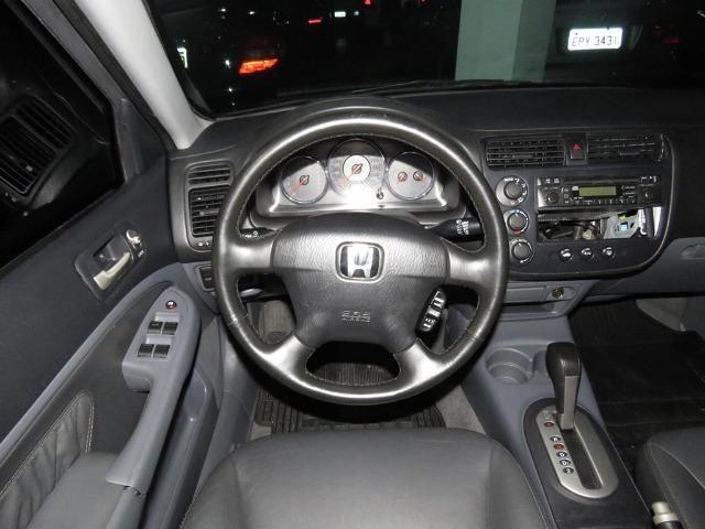 Honda Civic 1.7 EX 16v 4p Automático Blindagem III-A Completo C/ Couro - Foto 10