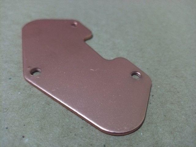 Baseplate Captador Guitarra Telecaster Metal Aço 4mm VermelhA