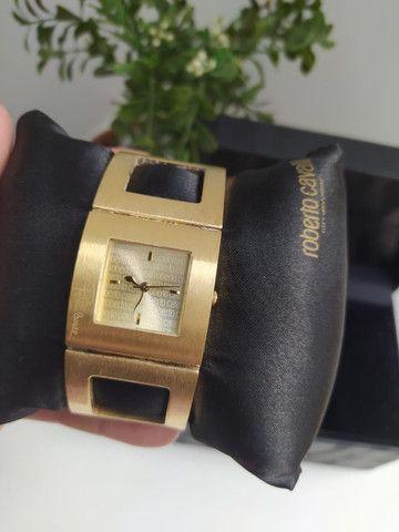 Relógio Roberto Cavalli Feminino Dourado - Foto 4