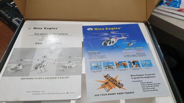 Helicóptero controle remoto 4 canais Nine Eagles Kestrel 500 4 canais - Foto 3