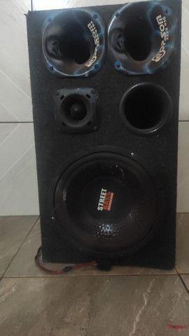 Caixa de som street Bass+ amplificador Roadstar 1500 watts!
