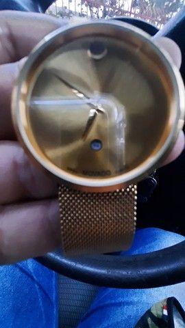 Relógio suiço banhado a ouro,VENDO OU TROCO - Foto 5