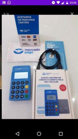 Maquineta Mercado Pago  Blue acende painel e a bateria dura mais