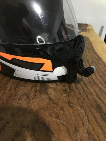 Suporte queixo capacete câmera (Motovlog) - Foto 7