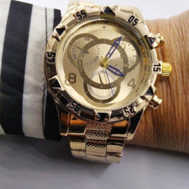 Relógio masculino marca Durans pulseira metal