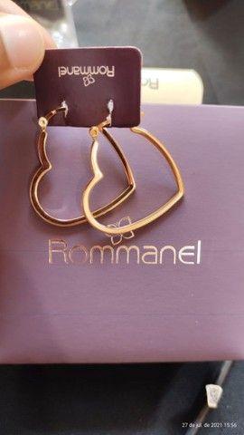 Argolas Rommanel banhadas a ouro - Foto 2