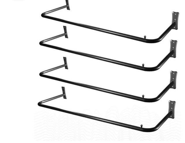 Kit 4 Araras De Parede Fixa Loja Roupas Cabides Reforçada