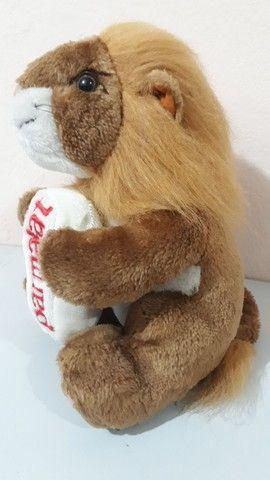Pelúcia Leão antiga da coleção mamíferos da Parmalat  - Foto 4