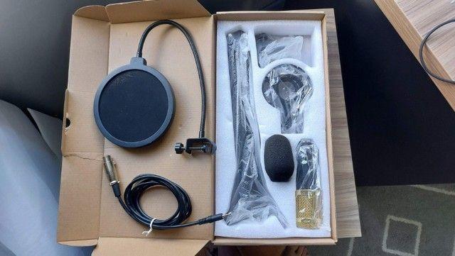 Kit Microfone Bm800 + Pop Filter + Aranha + Braço Articulado + Cabo XLR Santo Angelo de 5m - Foto 5