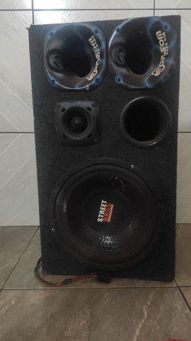 Caixa de som street Bass+ amplificador Roadstar 1500 watts!  - Foto 2