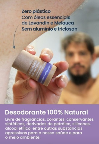 Desodorante 100% Natural Ecológico e Vegano Unissex - Foto 2