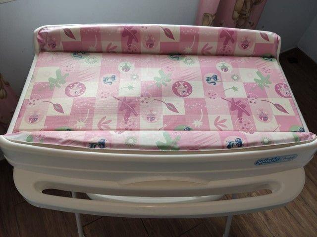 Banheira de bebê Burigotto com suporte e trocador - Foto 4