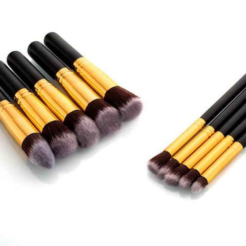 Pincel Para Maquiagem Kit 10 Pçs Kabuki Pronta Entrega - Foto 5