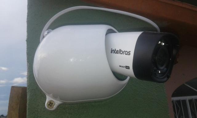 Promoção Dvr Intelbras Hikvision Kit instalado 8 cameras com infra vermelho  + Alarme a5e268c876abc