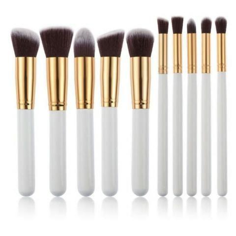 Pincel Para Maquiagem Kit 10 Pçs Kabuki Pronta Entrega - Foto 6