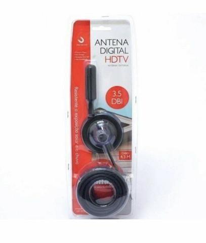 Antena Digital Hdtv Interna/externa 3.5 Dbi C/ Cabo De 4,3m