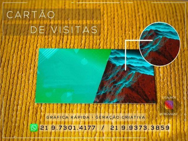 Cartão de Visita Laminação Hotstamping