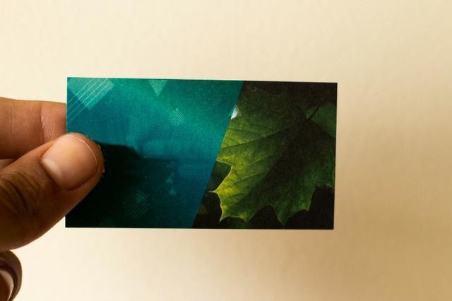 Cartão de visitas papel Reciclato - Foto 2