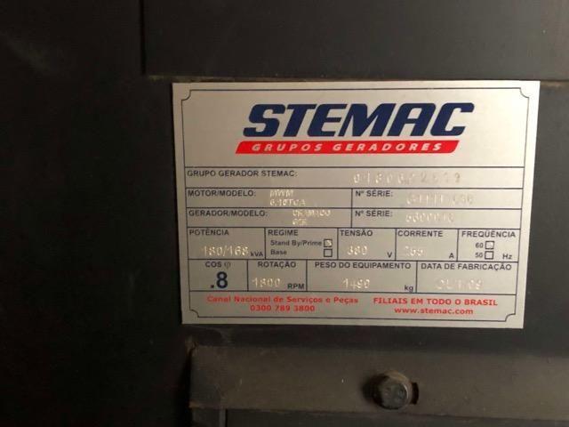 Gerador Stemac 180Kva Diesel Motor MWM 380v Trifásico Grupo - Foto 5