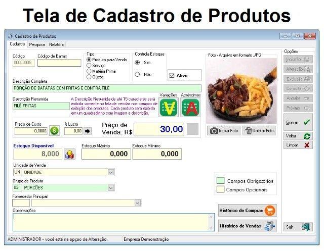 Sistema de Gestão para Restaurantes, Bares, Espeterias e afins. Caixa, Estoque, Financeiro - Foto 2