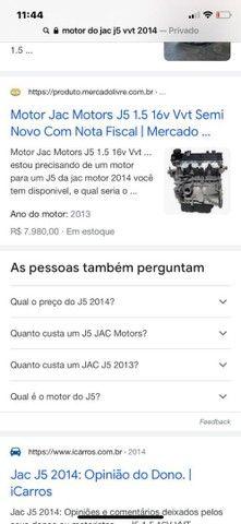 Vendo motor do J5, mesmo motor do Corolla