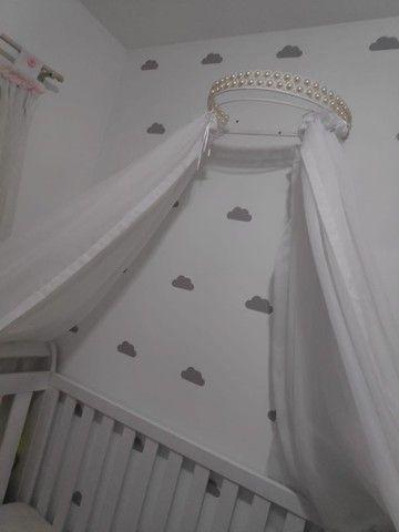 lindo Berço americano xodó branco (usado) - Foto 4
