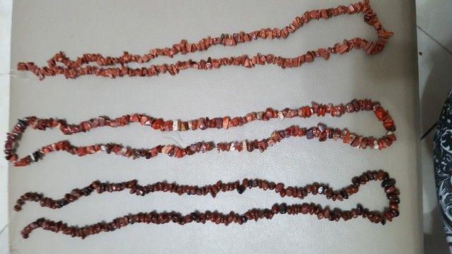 Lote de cordões  cascalho de pedras brasileiras  - Foto 4