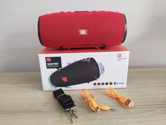 Caixa Som Bluetooth Xtreme Vermelha (22cm) - Foto 2