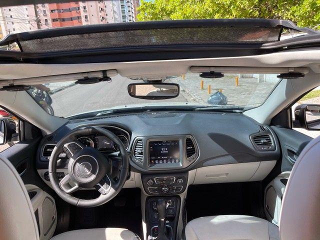Jeep Compass Longitude Diesel 4x4 Teto Solar botão start/stop 20/20 - Foto 12
