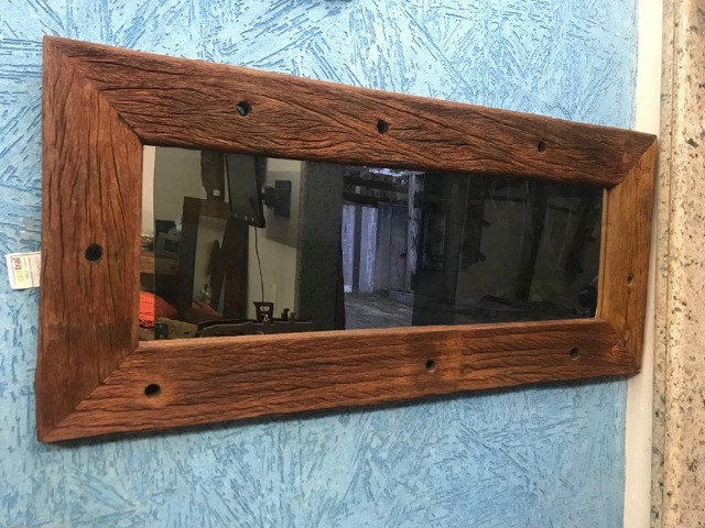 Moldura de madeira rustica - Foto 2