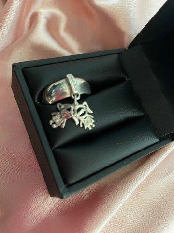 Vendo anel pingente menino e menina prata 925 - Foto 3