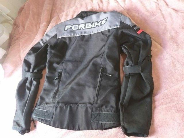 """Jaqueta motociclista feminina tamanho """"P""""  - Foto 2"""