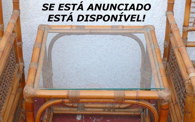 Poltronas almofadas mesa vime LEIA! - Foto 3