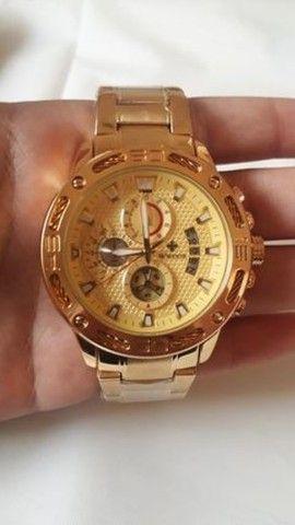 Relógio de luxo wwoor cronógrafo modelo 2021 - Foto 2