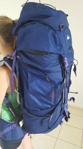 Mochila trekking/viagem Symbium Access 50+10 Litros - Quechua!