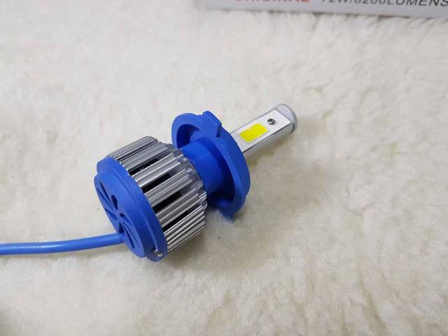 Lampada LED Farol H4 4100LM de potencia 36W com Cooler (Uma Unidade/Moto) - Foto 10