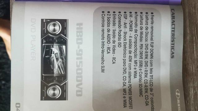Vendo DVD automotivo marca H Buster modelo 9150 - Foto 2