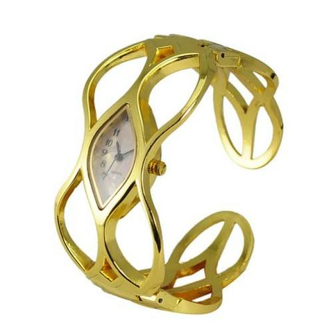 Relógio feminino dourado modelo bracelete