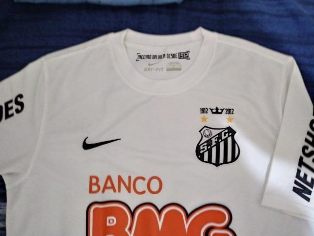 8e4db27f86 Camisa do Santos Tam G serie garotos da vila Nike - Esportes e ...
