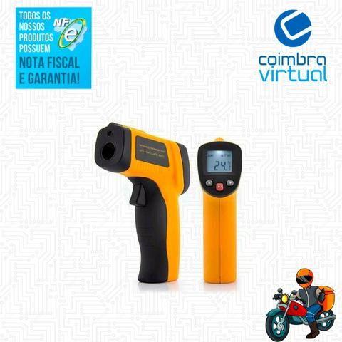 Termômetro Industrial Profissional Mira Laser Digital Tela LCD -50º até + 400º GM400