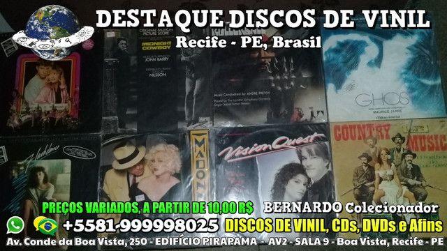 Varios Discos de Vinil CDs e DVDs, Preços Variados