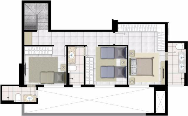 Apartamento Duplex 142m2 3Q st Oeste/lindo/vista perfeita/25a/aceita permuta menor Valor - Foto 3