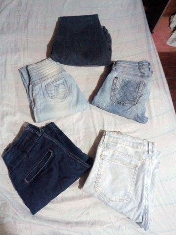 5 calças jeans por 40Reais