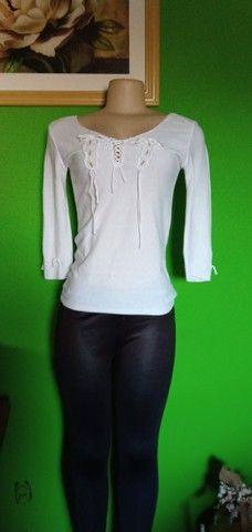 Blusa Tricô Branca - Tam. M