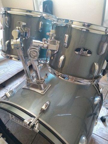 Bateria Pearl Roadshow Charcoal Metallic - Completa - Foto 4