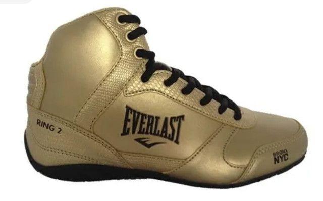 Tênis Everlast dourado-preto 34/35 Unissex - Foto 2