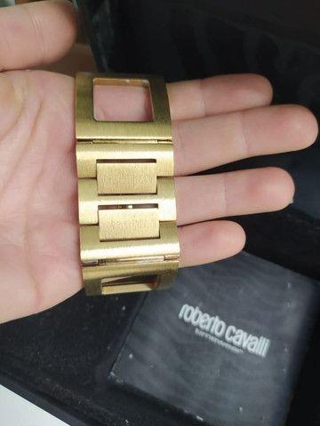 Relógio Roberto Cavalli Feminino Dourado - Foto 5