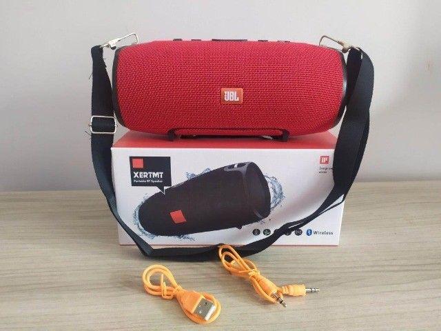 Caixa Som Bluetooth Xtreme Vermelha (22cm) - Foto 3